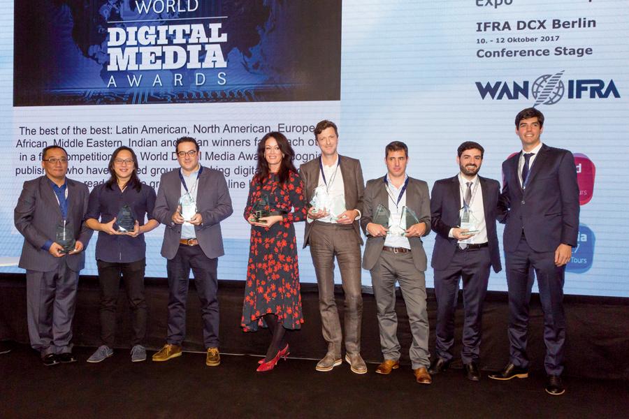 Ganadores de los premios World Digital Media Awards 2017