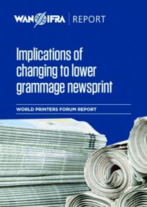 Implicaciones del cambio al papel prensa de gramaje inferior