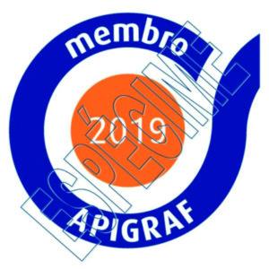 "Logo ""Membro APIGRAF 2019"" já disponível"