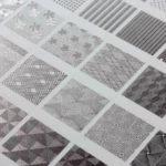Opciones decorativas de la tinta metálica UV