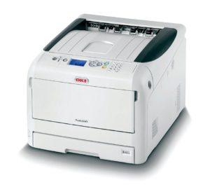 OKI Pro8432WT - Impressão por transfer em fundo branco e escuro