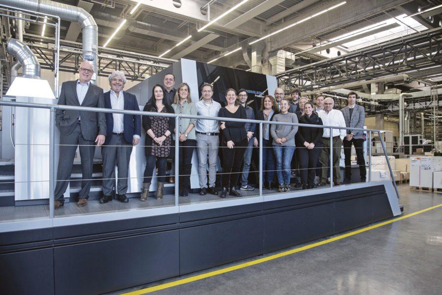 Prensa sector gráfico visita heidelberg