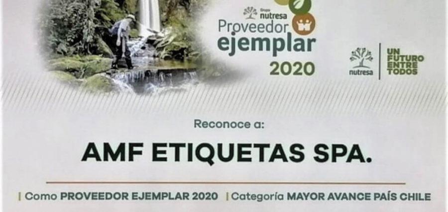 """AMF Etiquetas reconocida como """"Mayor Avance País Chile"""""""